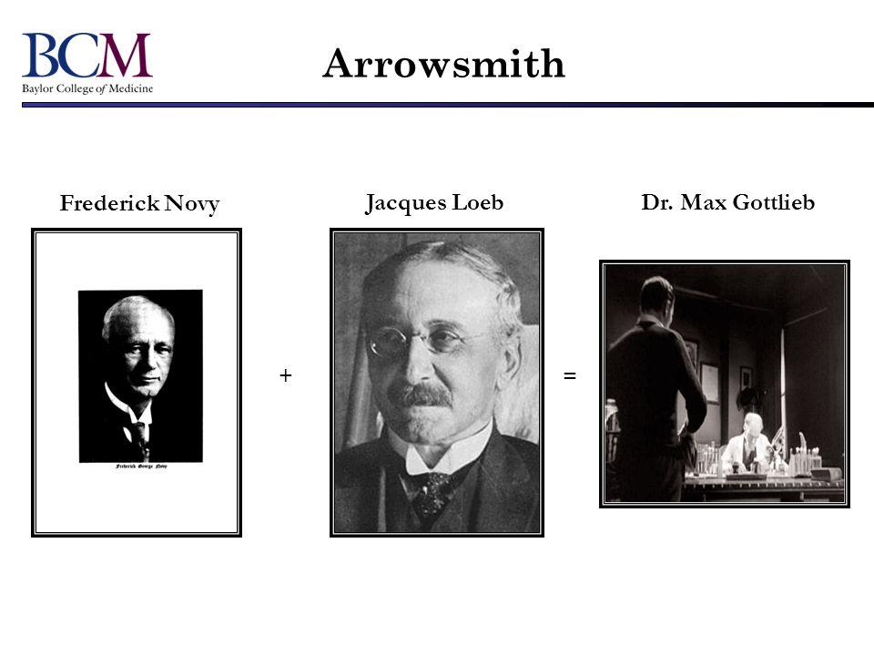 Frederick Novy Jacques LoebDr. Max Gottlieb += Arrowsmith