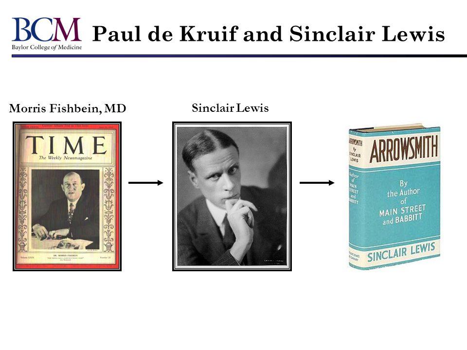 Morris Fishbein, MD Sinclair Lewis Paul de Kruif and Sinclair Lewis