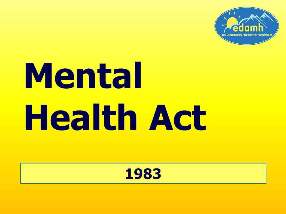1983 Mental Health Act