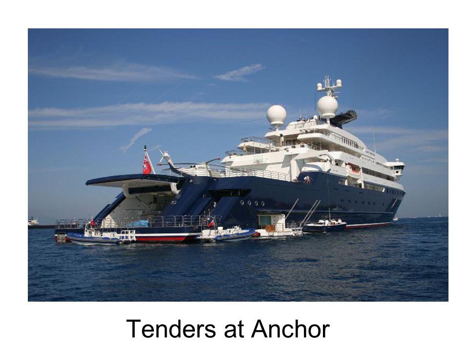 Tenders at Anchor