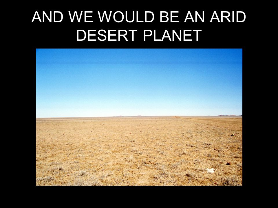 AND WE WOULD BE AN ARID DESERT PLANET