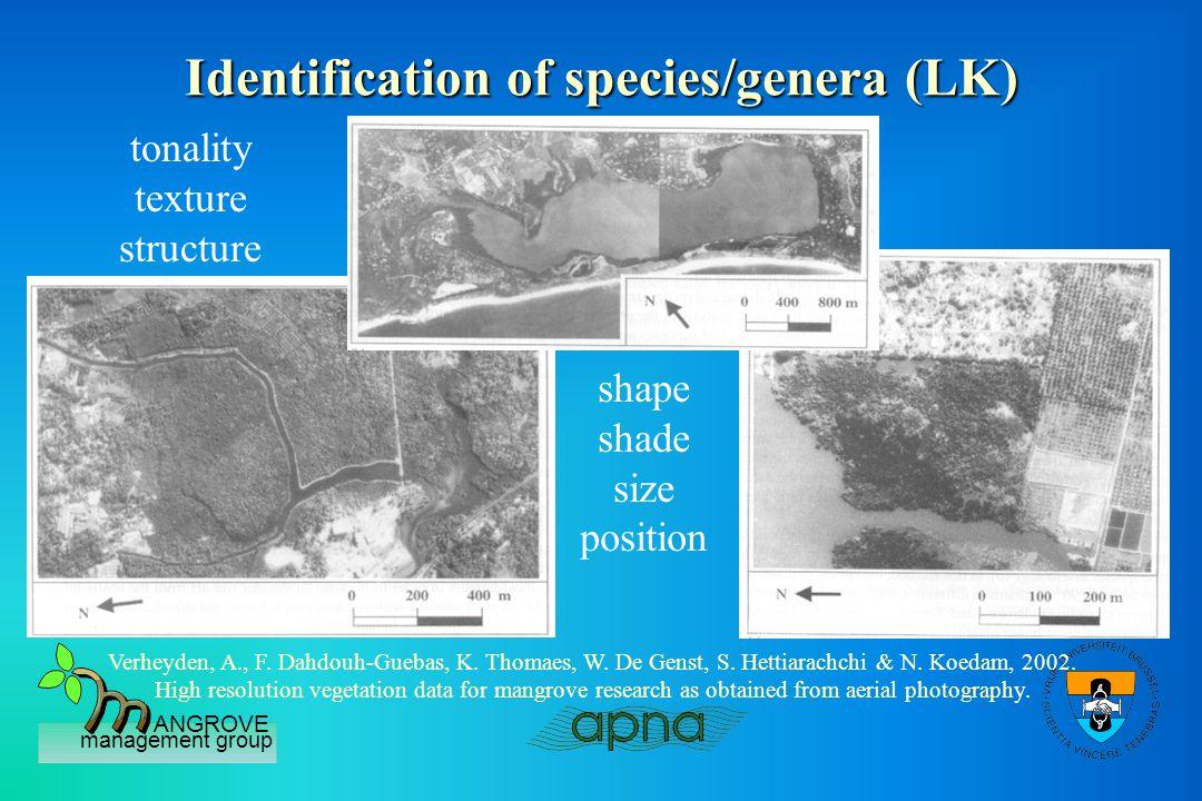 ANGROVE management group Vegetation structure dynamics (LK) Dahdouh-Guebas, F., A.