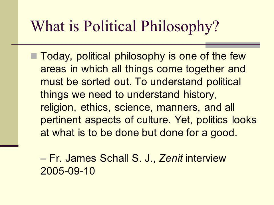 What is Political Philosophy.