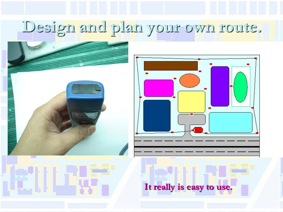 Design and plan your own route. It really is easy to use.