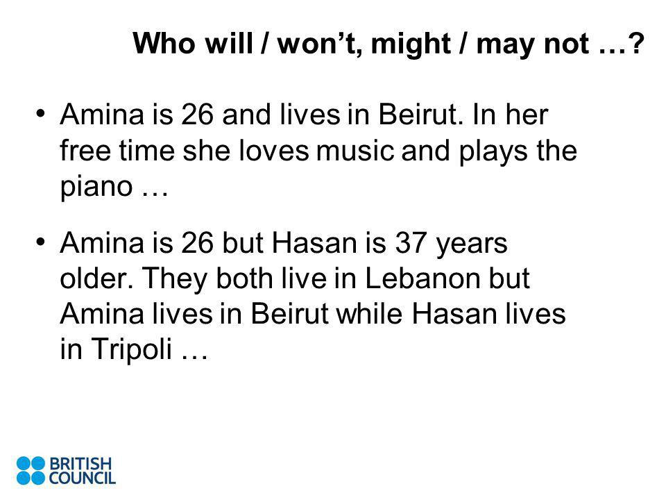 Amina is 26 and lives in Beirut.