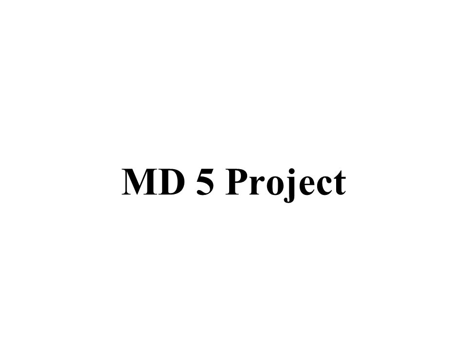 MD 5 Project