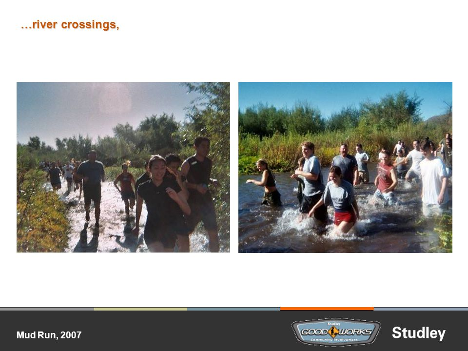 …river crossings,