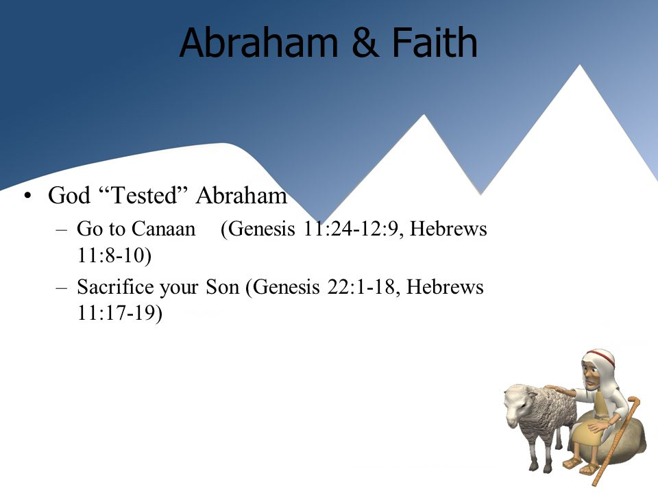 Abraham, the heir of Righteousness God wanted to make His Righteousness known Found Abraham Faithful Promised a Holy land Left descendants to Do his Works (John 8:30-40) Hinted of a Savior born through him Became the Father of Faith Righteousness: – Accounted or Imputed to him Faith is how you please God