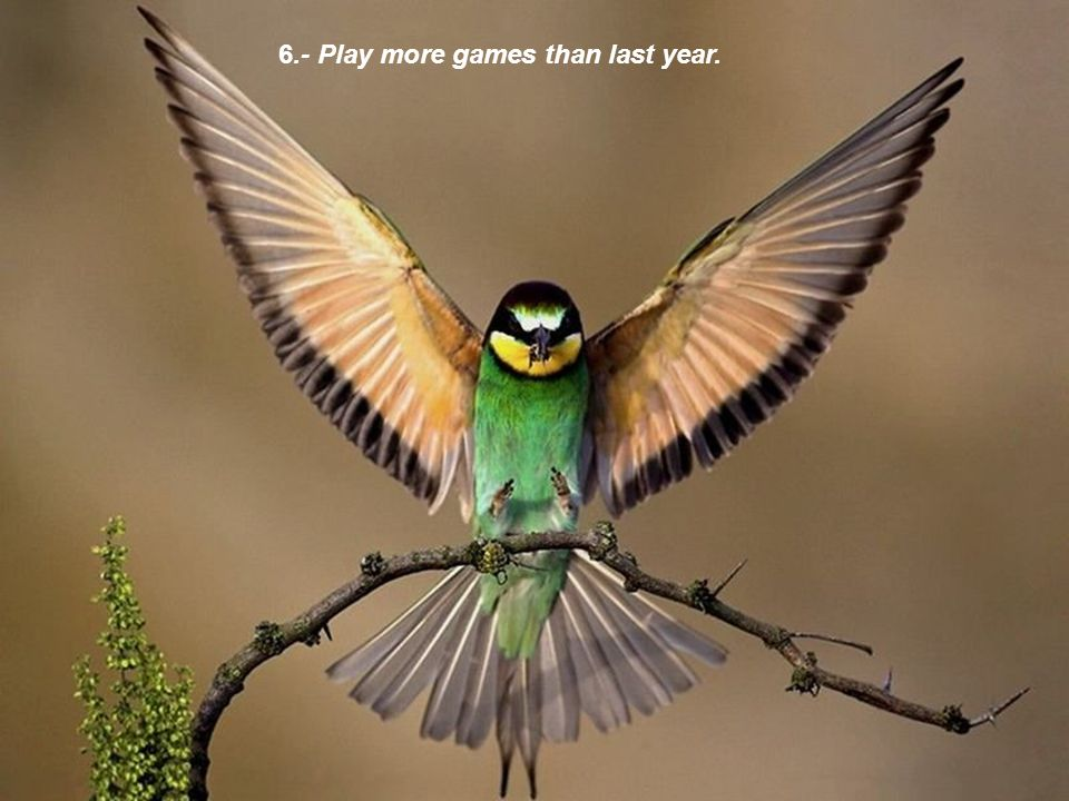 6.- Play more games than last year.
