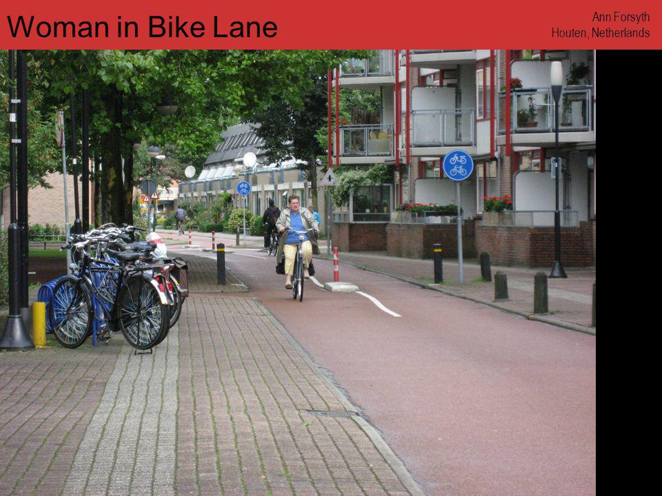Woman in Bike Lane Ann Forsyth Houten, Netherlands