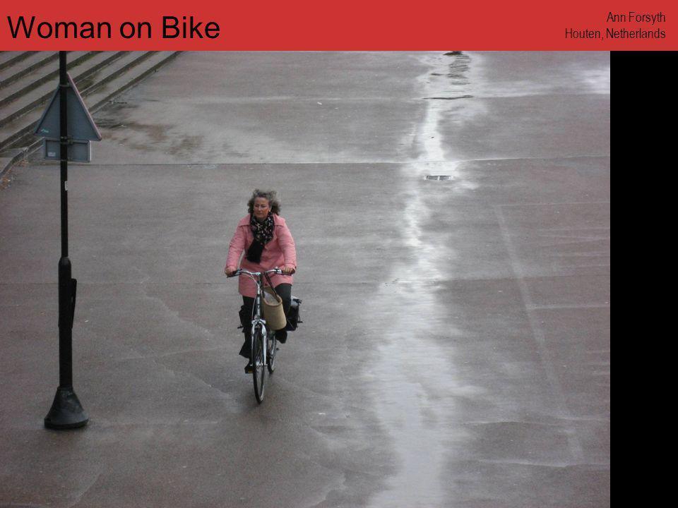 www.annforsyth.net Man on Bike Path Ann Forsyth Stockholm, Sweden