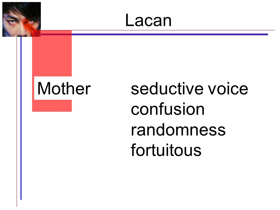 seductive voice confusion randomness fortuitous Lacan Mother