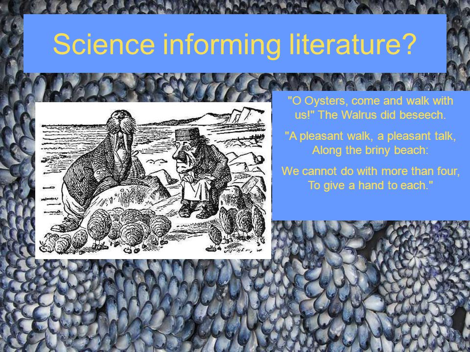 Science informing literature?