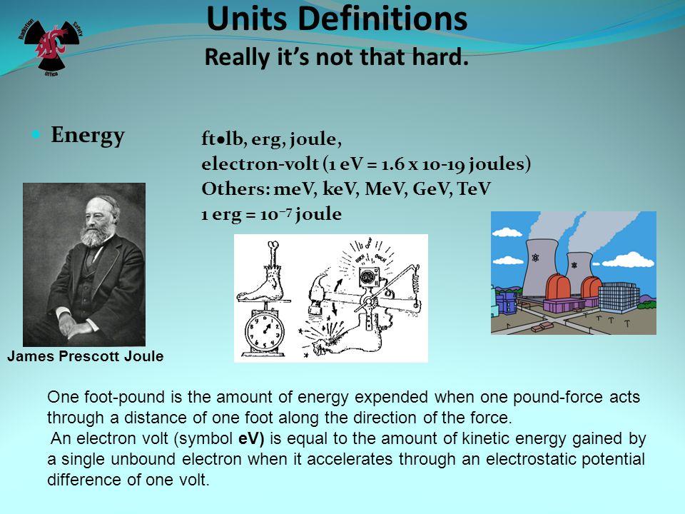 Units Used in Radiation Safety erg Roentgen Rad Rem Curie Sievert Becquerel Gray joule