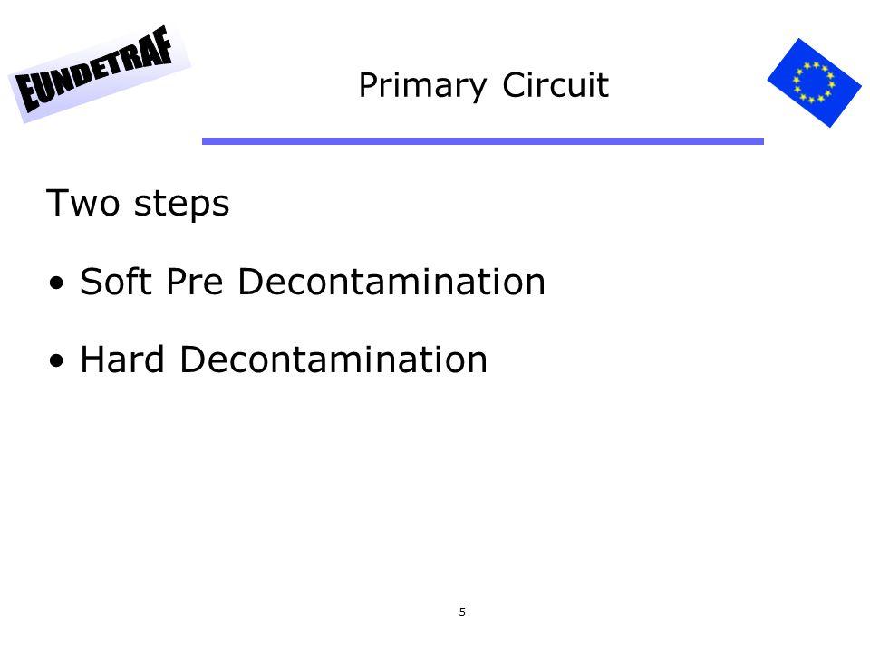 5 Primary Circuit Two steps Soft Pre Decontamination Hard Decontamination