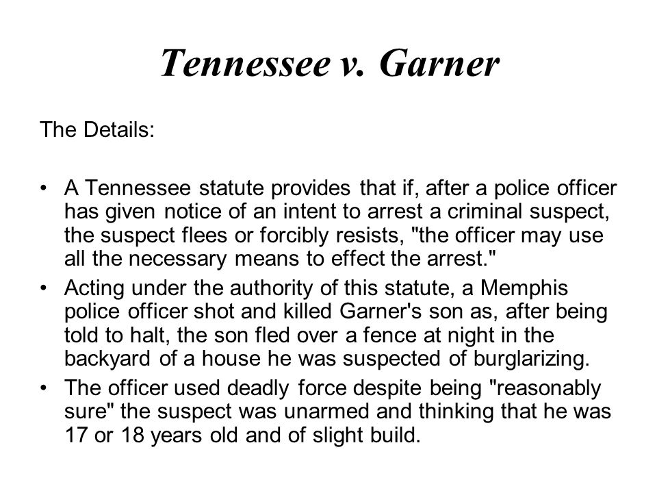 Tennessee v.