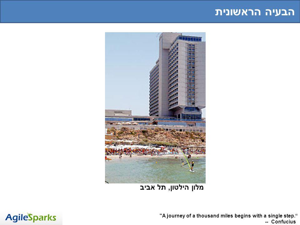 מלון הילטון, תל אביב A journey of a thousand miles begins with a single step.