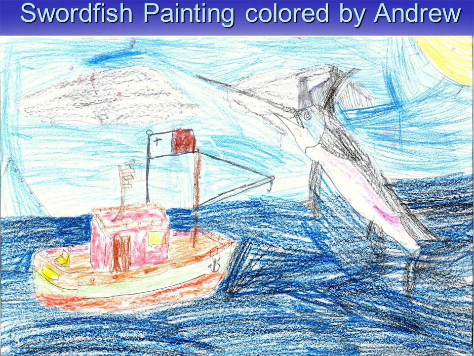 Swordfish Painting colored by Andrew
