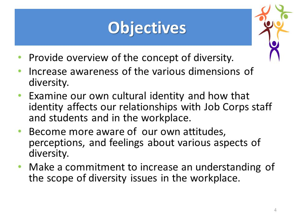 Objectives Provide overview of the concept of diversity.