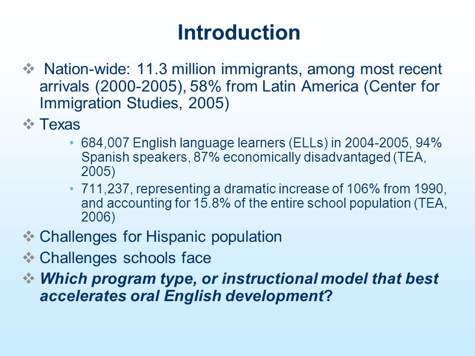 Recommendations researchers compare students in Project ELLA with their English- speaking peers so as to identify the gap, if there is such, between native and non-native English speakers.