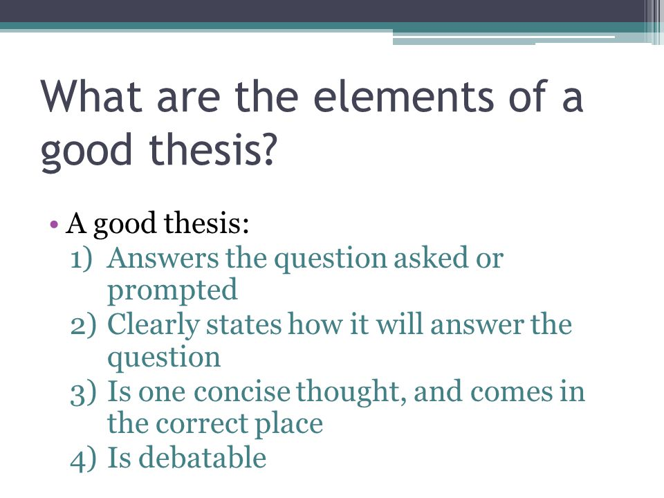 Essay Thesis Statement Generator