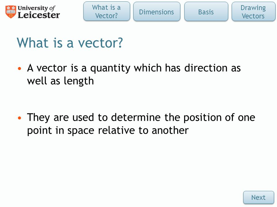 What is a vector.