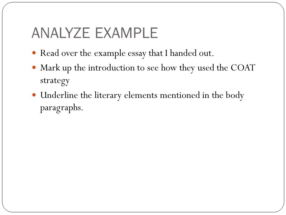 Example Of Example Essays