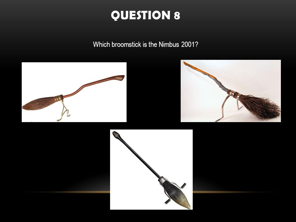 QUESTION 8 Which broomstick is the Nimbus 2001