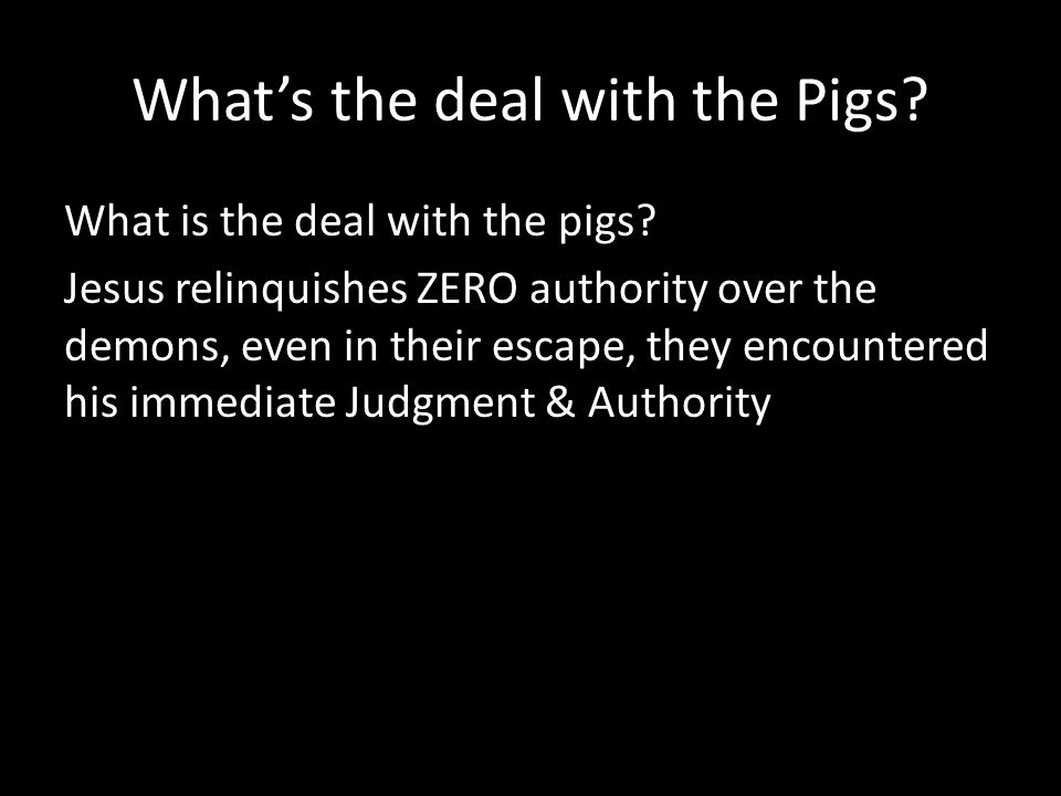 Whats the deal with the Pigs. What is the deal with the pigs.