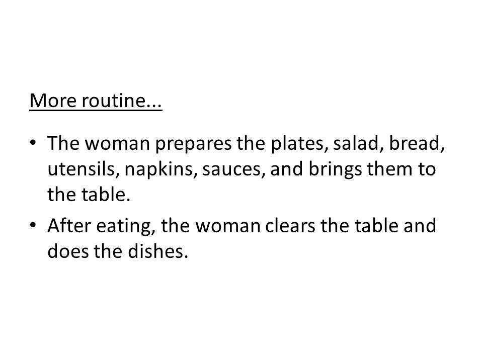 More routine...