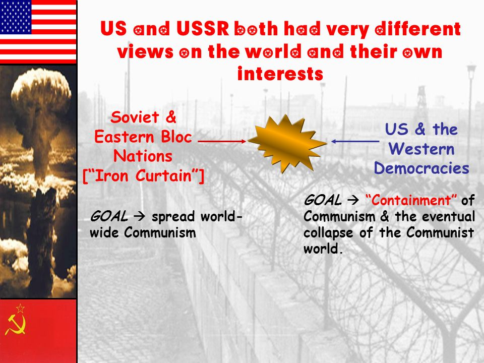 Origins of the Cold War: 1. The Russian Civil War; (1918-1920)tension between US and USSR US backed White Army Lenins Red Army took control 2. Casabla