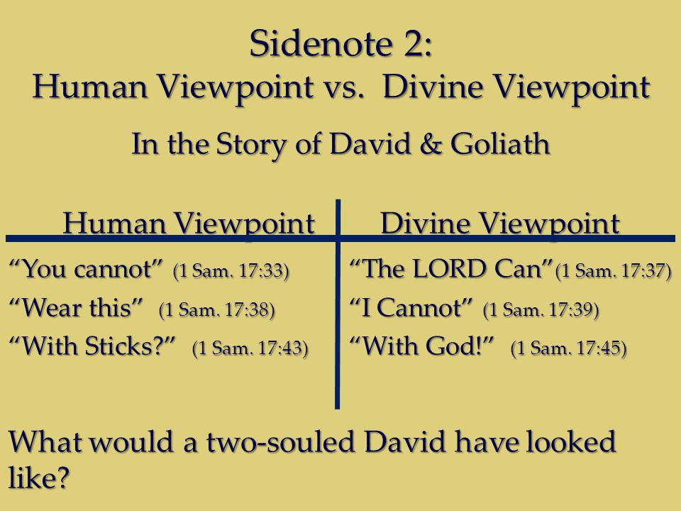 Sidenote 2: Human Viewpoint vs.