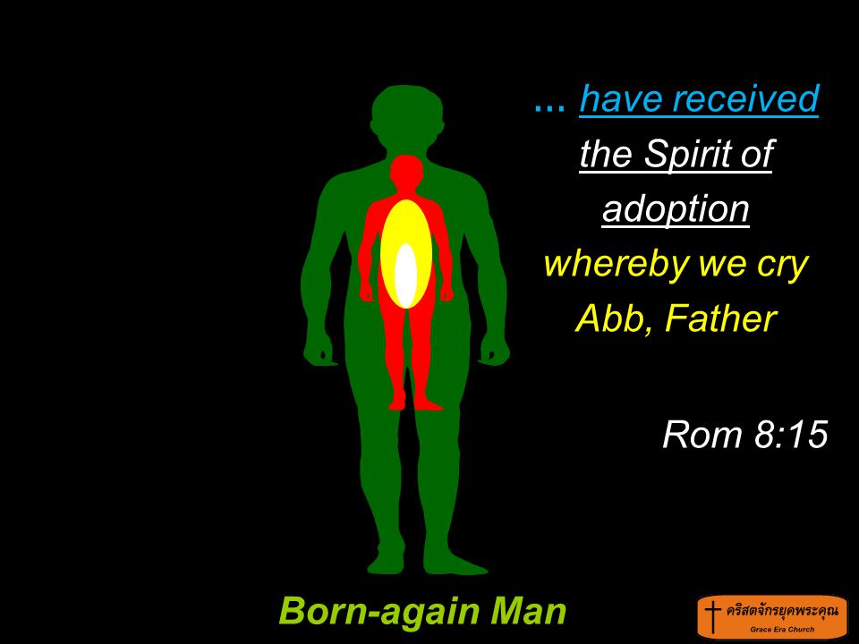 ... have received the Spirit of adoption whereby we cry Abb, Father Rom 8:15 Born-again Man