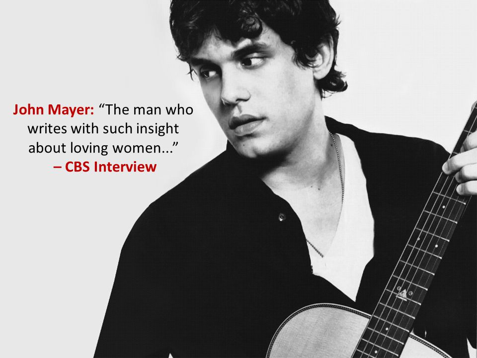John Mayer: The man who writes with such insight about loving women... – CBS Interview