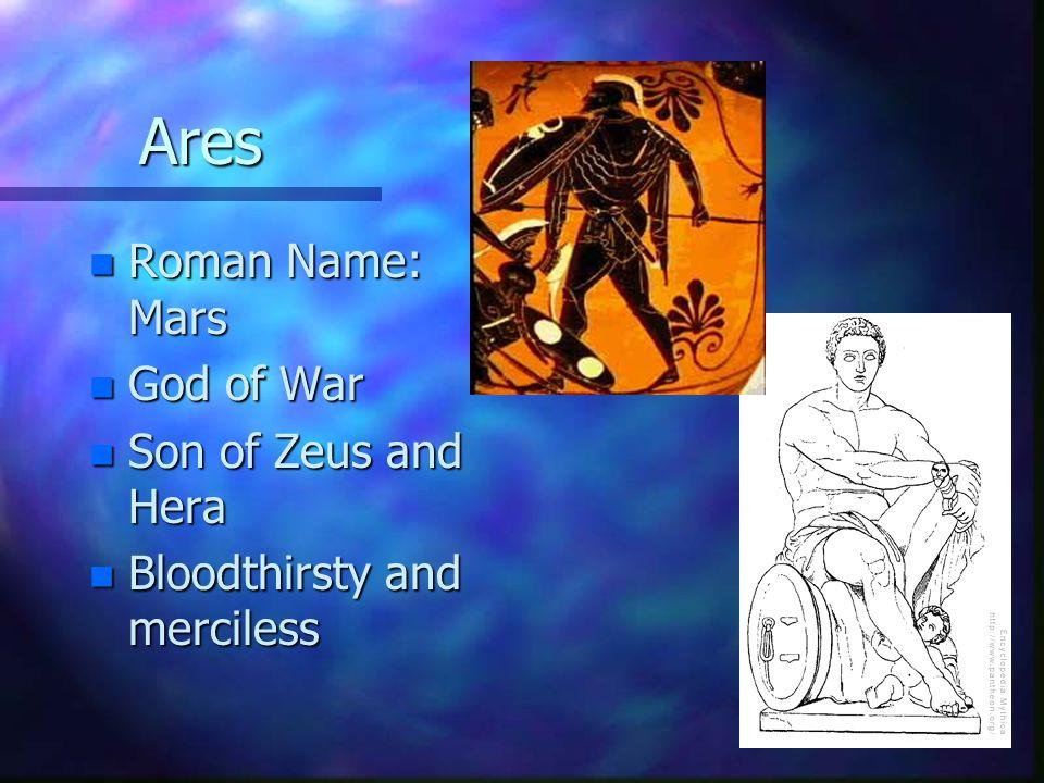 Hephaestus n Roman Name: Vulcan (Mulciber) n God of Fire/Forge n Son of Zeus and Hera n Kind, unlike his brother
