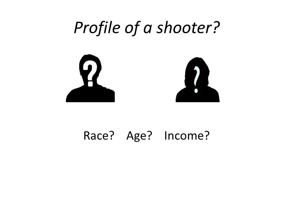 Profile of a shooter? Race? Age? Income?