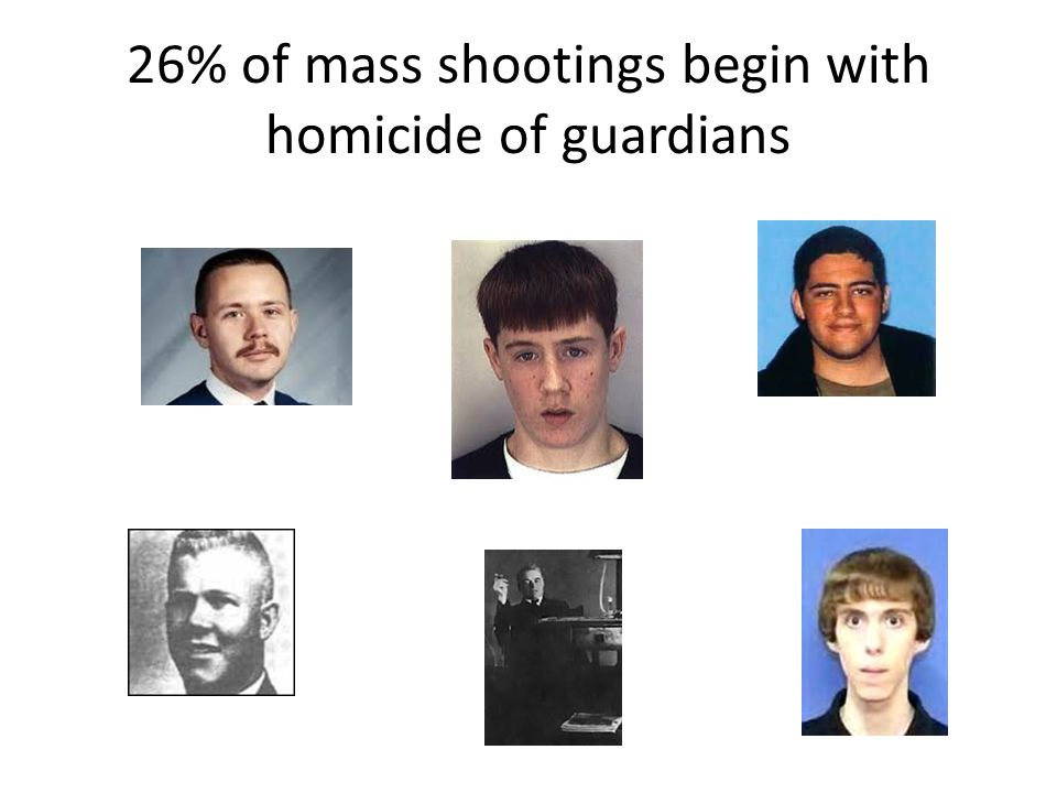 26% of mass shootings begin with homicide of guardians
