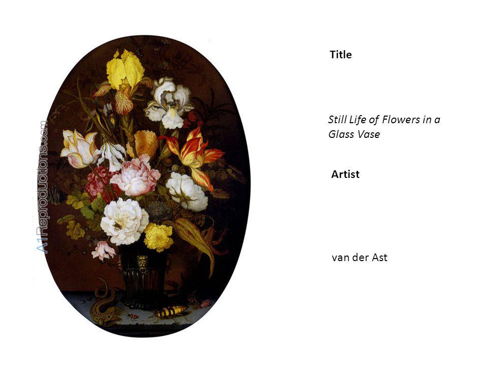 Title Artist Still Life of Flowers in a Glass Vase van der Ast
