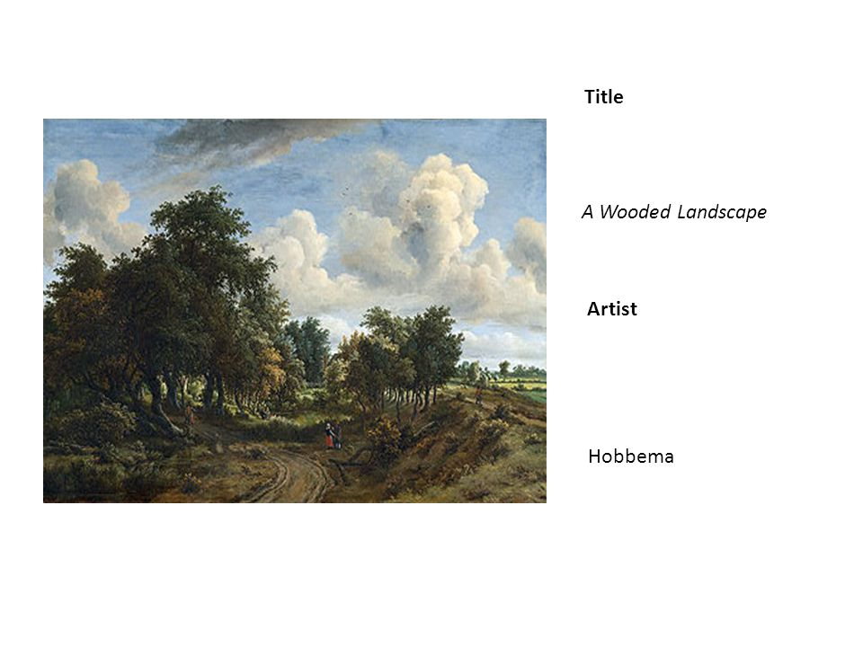 Title Artist A Wooded Landscape Hobbema