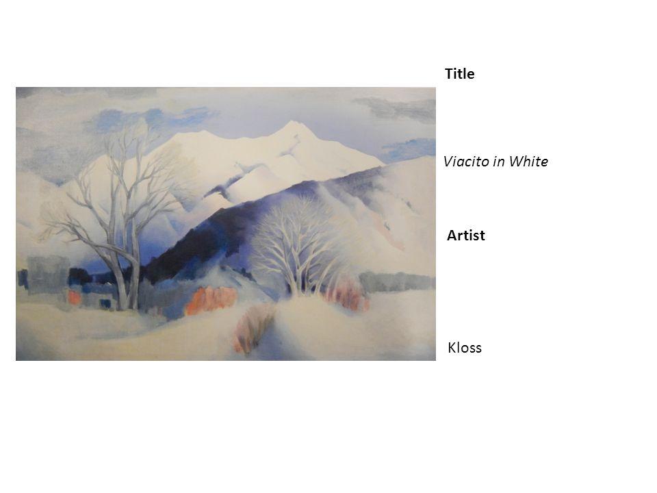 Title Artist Viacito in White Kloss