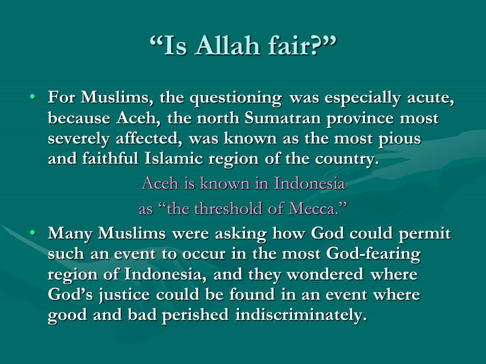 Is Allah fair.