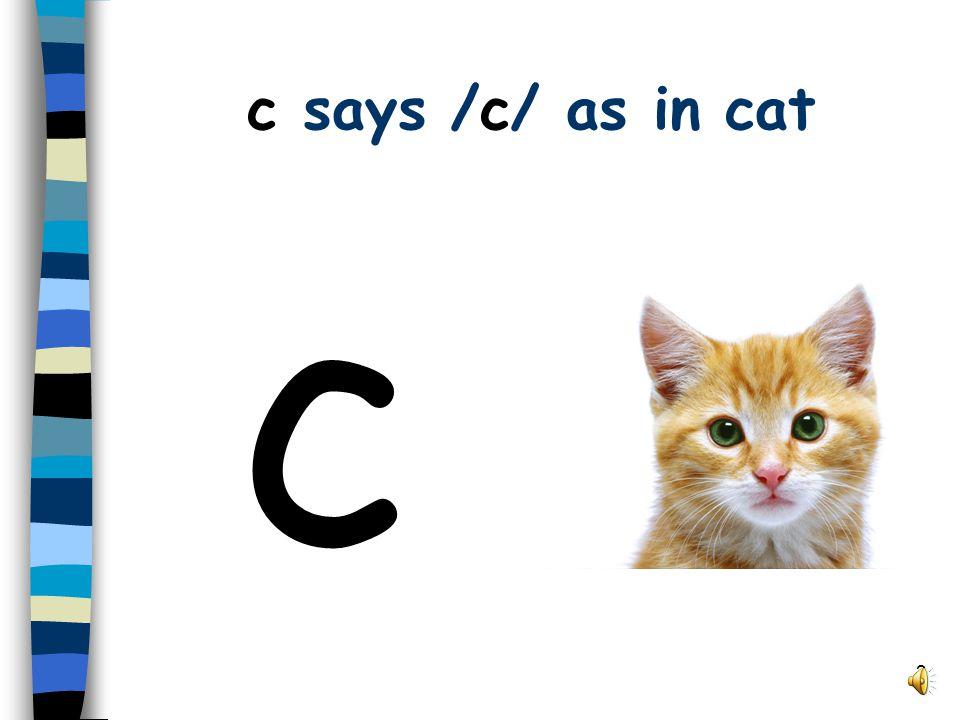 2 c says /c/ as in cat c