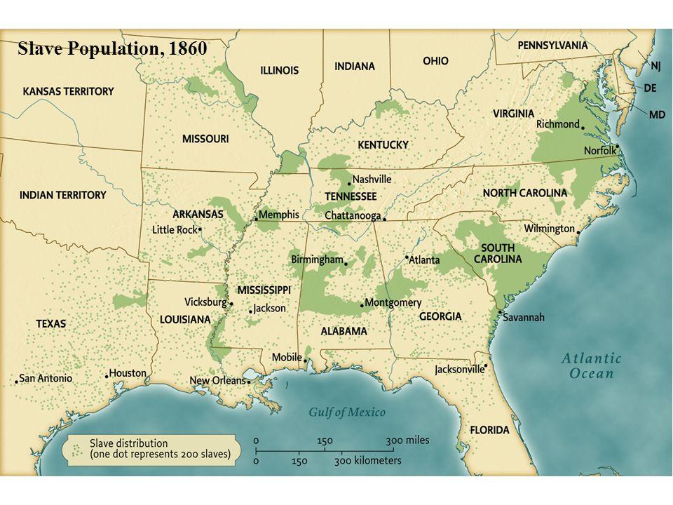 Slave Population, 1860 pg. 390 Slave Population, 1860