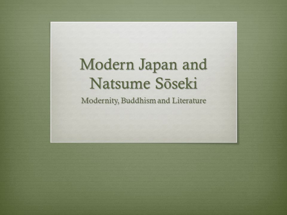 Later Novels Abandons his University post in 1907 for a position at Asahi Shinbun, becomes professional writer Trilogy: Sanshiro (1908), And Then ( Sore kara, 1909), The Gate ( Mon, 1910).