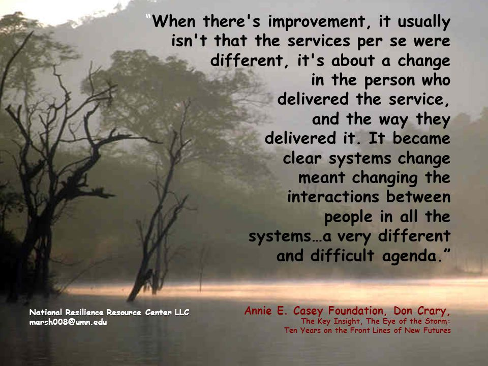 ,When there's improvement, it usually isn't that the services per se were different, it's about a change in the person who delivered the service, and