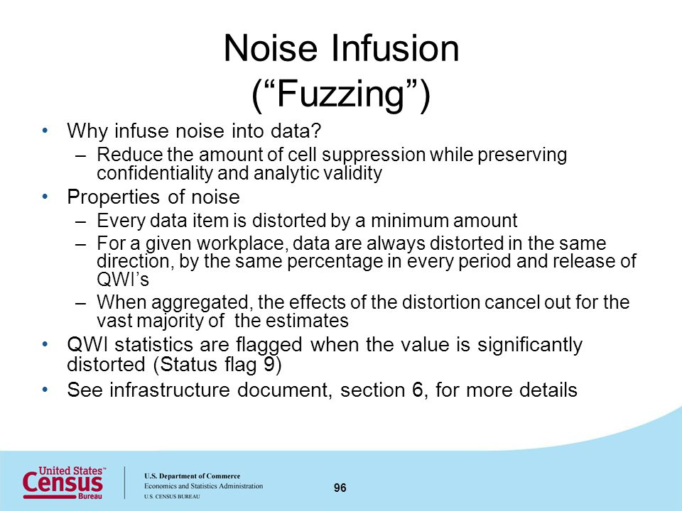 Noise Infusion (Fuzzing) Why infuse noise into data.