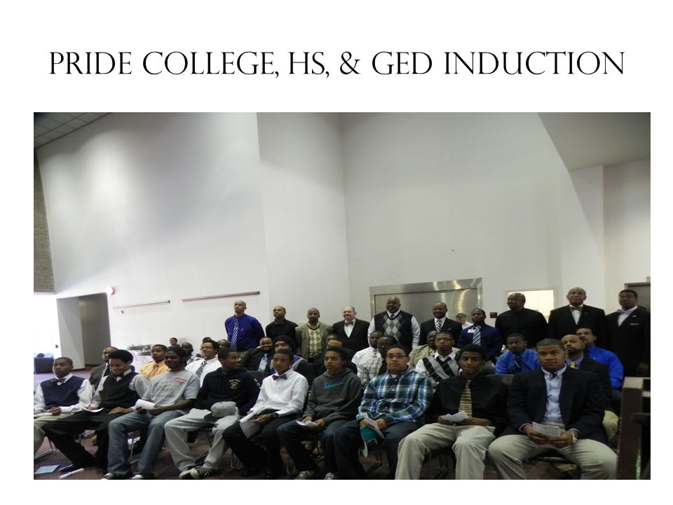 PRIDE College, HS, & GED Induction