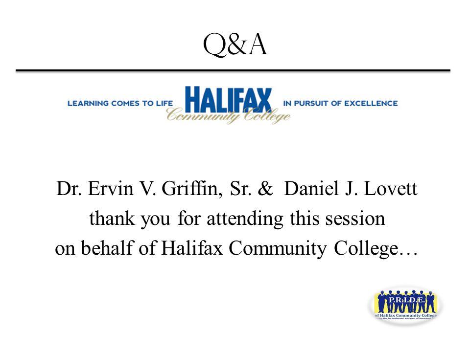Q&A Dr. Ervin V. Griffin, Sr. & Daniel J.