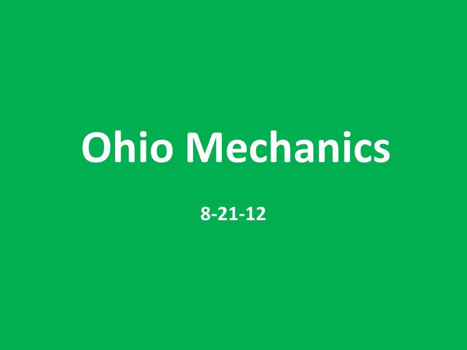 Ohio Mechanics 8-21-12