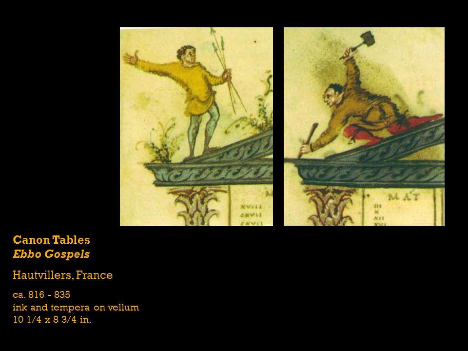 Canon Tables Ebbo Gospels Hautvillers, France ca. 816 - 835 ink and tempera on vellum 10 1/4 x 8 3/4 in.